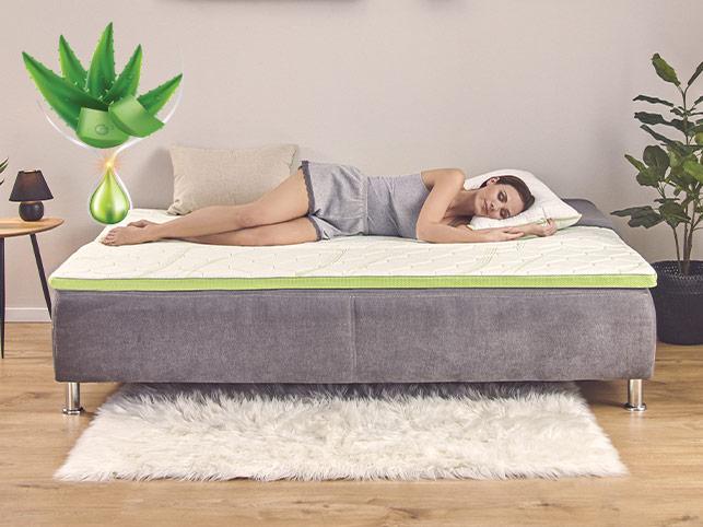 Topper cu 5 zone de confort Dormeo Aloe Vera 4+1